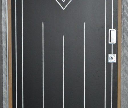 Porte intérieure ardoise à motifs