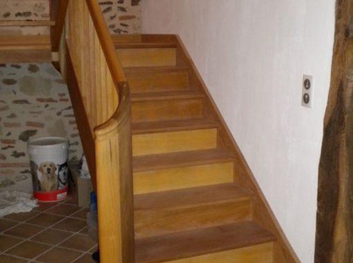 Escalier avec pallier