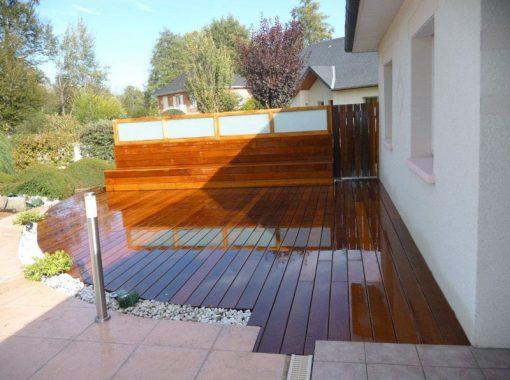Terrasse arrondie en bois